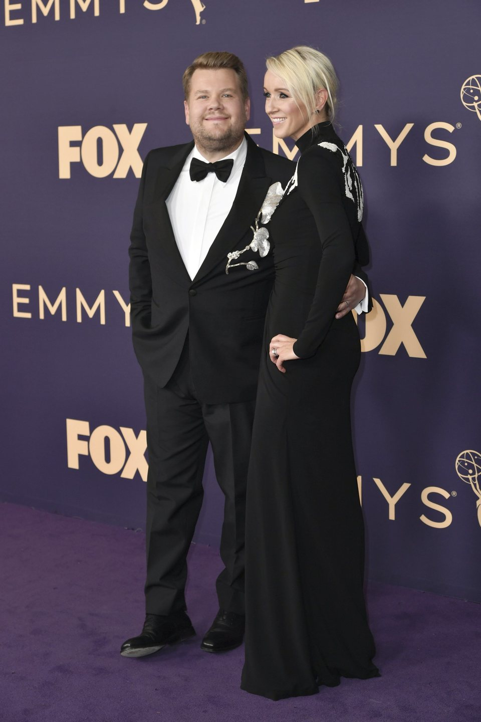 James Corden at the Emmy 2019 red carpet