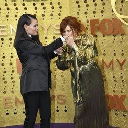 Natasha Lyone and Clea DuVall at the Emmy 2019 red carpet