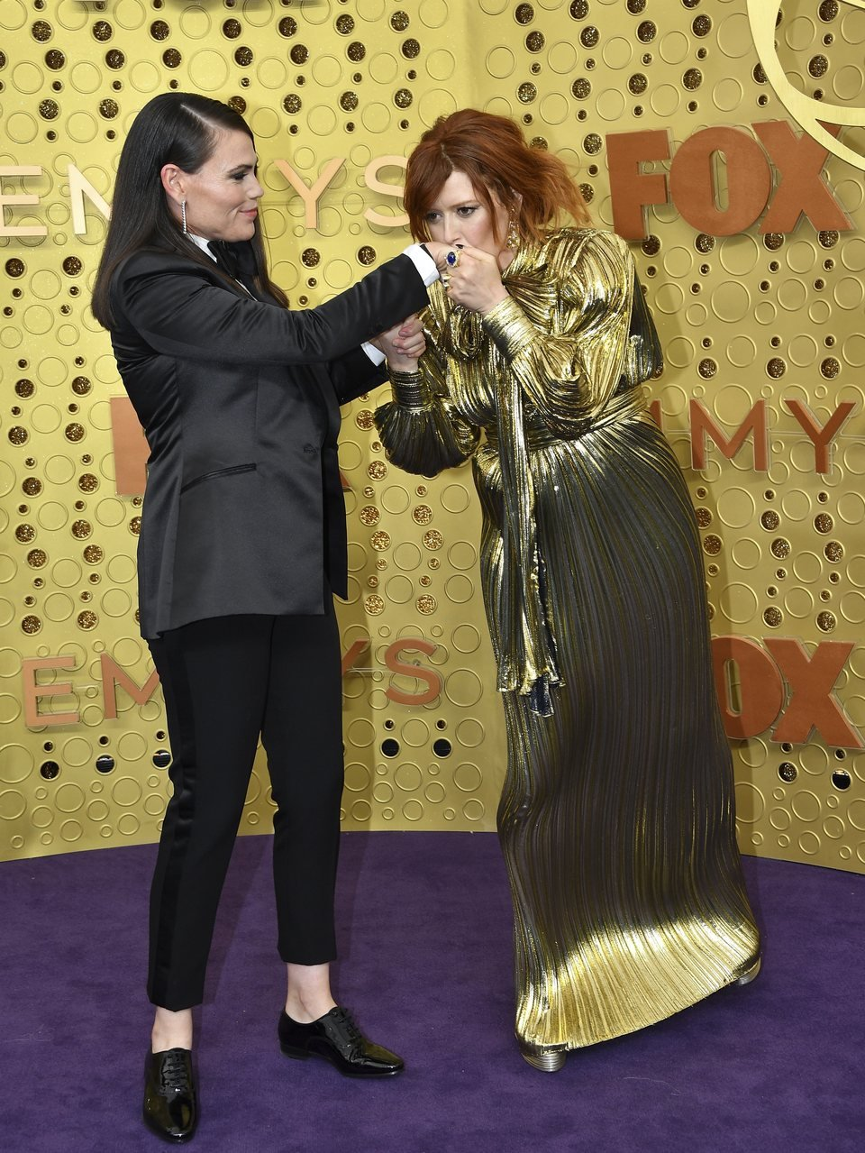 Natasha Lyone and Clea DuVall at the Emmy 2019 red carpet