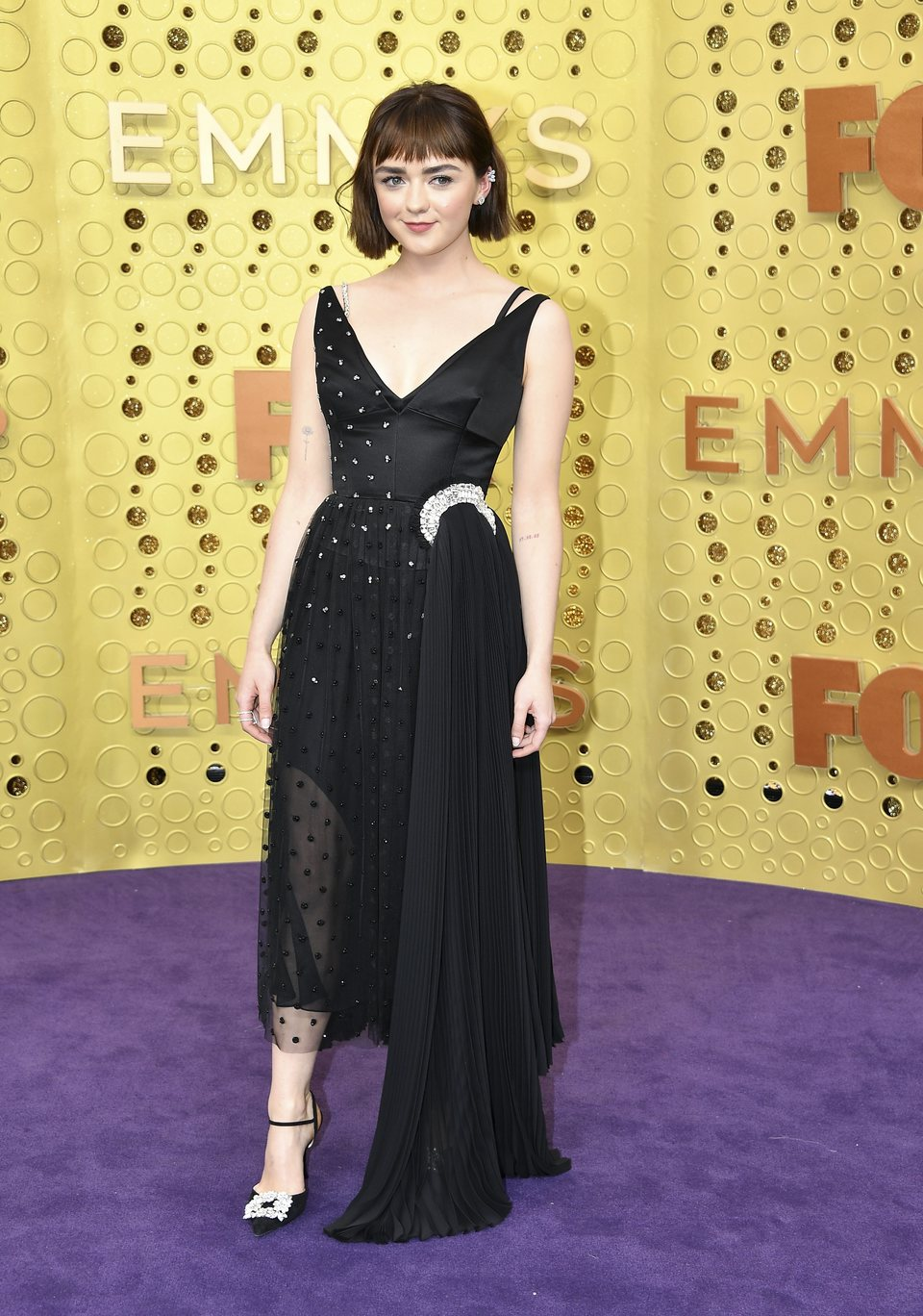 Maisie Williams at the Emmy 2019 red carpet