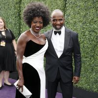 Viola Davis and Julius Tennon at the Emmy 2019 red carpet