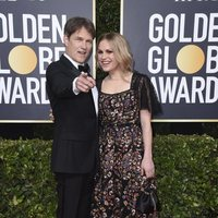 Anna Paquin and Stephen Moyer at the Golden Globes 2020 red carpet