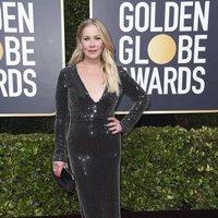 Christina Applegate at the Golden Globes 2020 red carpet