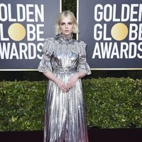 Lucy Boynton at the 2020 Golden Globes red carpet