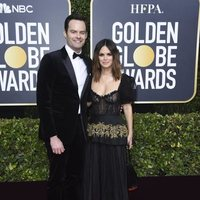 Bill Hader and Rachel Bilson at the Gloden Globes 2020 red carpet