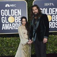 Jason Momoa and Lisa Bonet at the Golden Globes 2020 red carpet