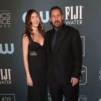 Adam Sandler and his wife Jackie at the Critics' Choice Awards 2020