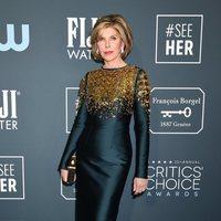 Christine Baranski at the Critics' Choice Awards 2020 red carpet