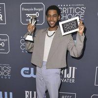 Jharrel Jerome at the Critics' Choice Awards 2020 red carpet