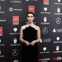 Greta Fernández at the Feroz Awards 2020 red carpet