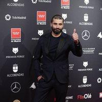 Álex García at the Feroz Awards 2020 red carpet