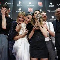The 'Vida perfecta' team at the Feroz Awards 2020