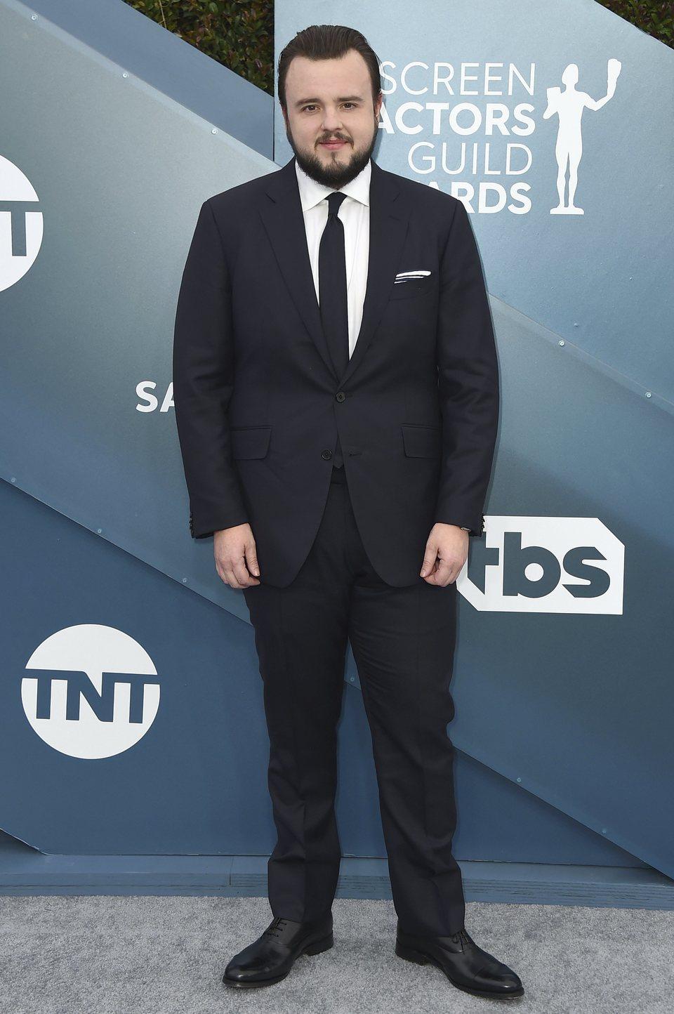 John Bradley on the red carpet at the SAG Awards 2020