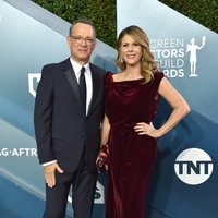 Tom Hanks y Rita Wilson on the red carpet of the SAG Awards 2020
