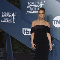 Jennifer Lopez on the red carpet of the SAG Awards 2020