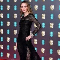 Lily-Rose Depp on the red carpet at the 2020 BAFTAs