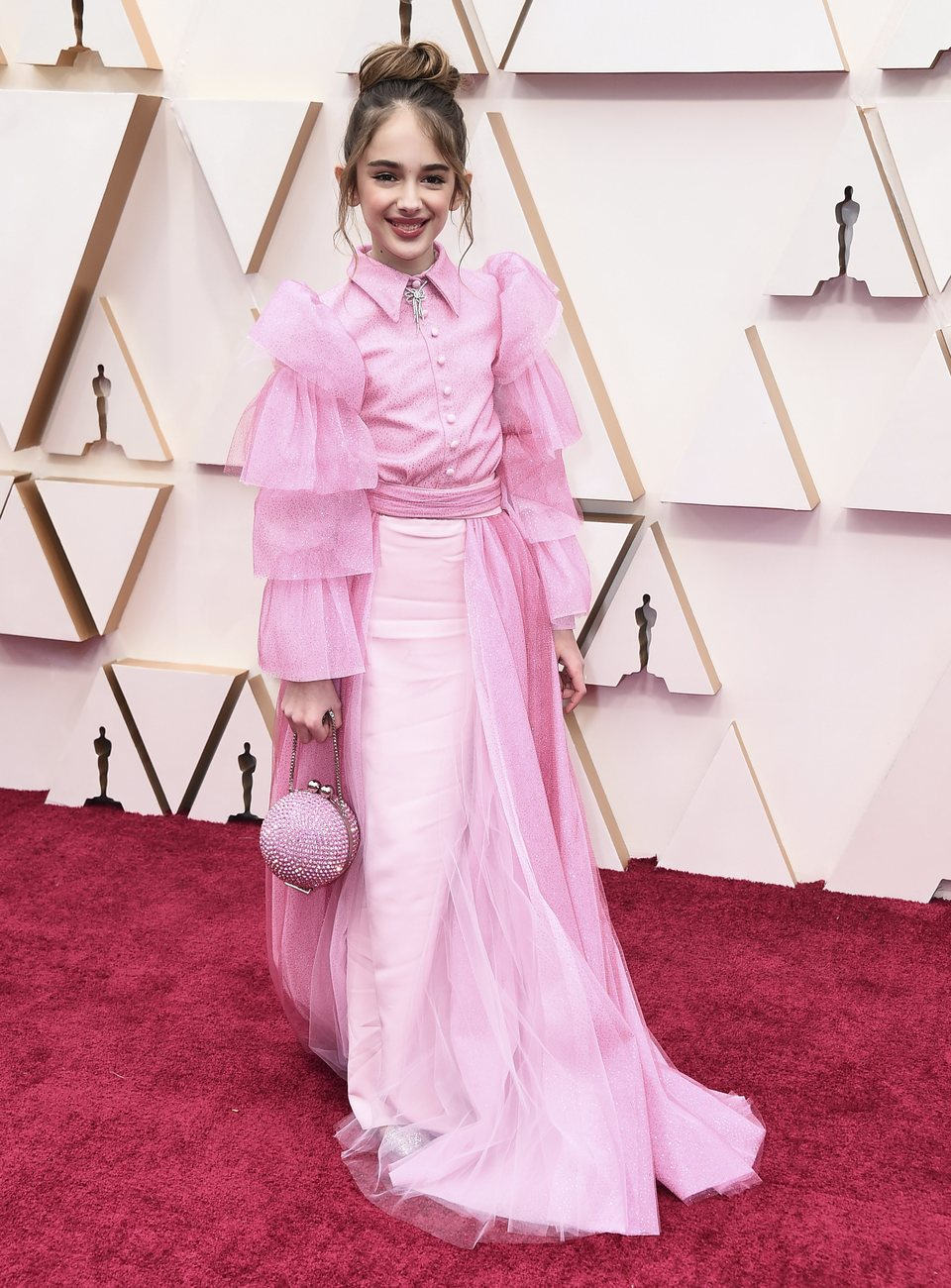 Julia Butters at the red carpet of the 2020 Oscar Awards