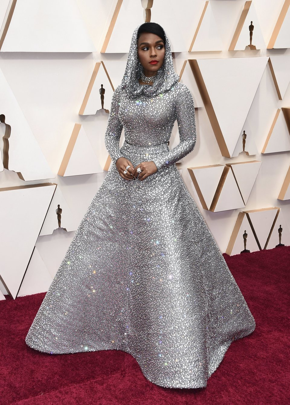 Janelle Monae at the red carpet of the Oscars 2020