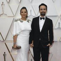 Lin-Manuel Miranda on the red carpet at the 2020 Oscar Awards