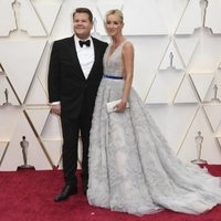 James Corden and Julia Carey at the red carpet of the Oscars 2020