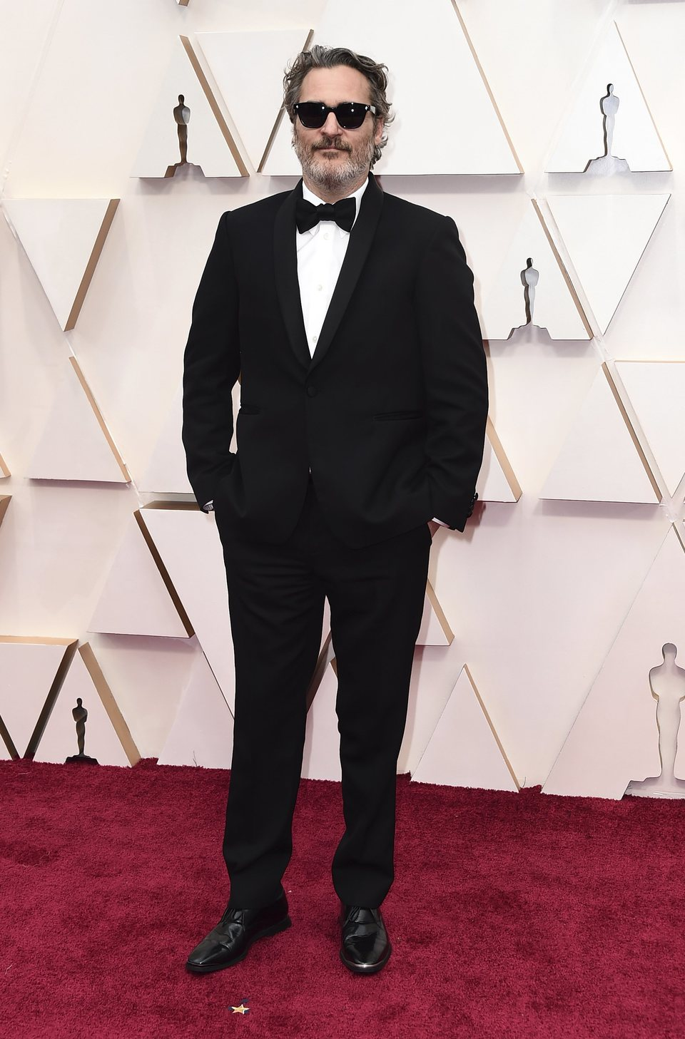 Joaquin Phoenix on the red carpet at the 2020 Oscar Awards