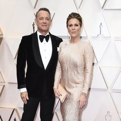 Tom Hanks on the red carpet at the 2020 Oscar Awards