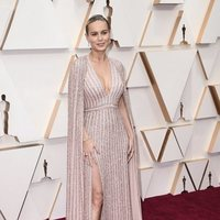 Brie Larson on the red carpet at the 2020 Oscar Awards