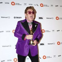 Elton John with his Best Original Song Oscar for 'Rocketman'