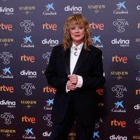 Emma Suarez at the Goya 2021 red carpet