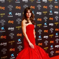 Marta Etura at the red carpet of the 35th edition of the Goya Awards