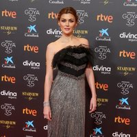 Marta Nieto at the red carpet of the 35th edition of the Goya Awards