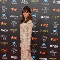 Maggie Civantos at the red carpet of the 35th edition of the Goya Awards
