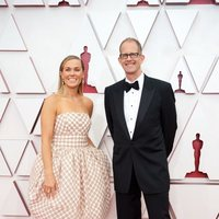 Dana Murray and Pete Docter at the Oscars 2021 red carpet