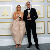 Dana Murray and Pete Docter, winners of the Oscar 2021 for the best animated feature