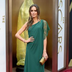 Louise Roe on the red carpet at the Oscars 2014