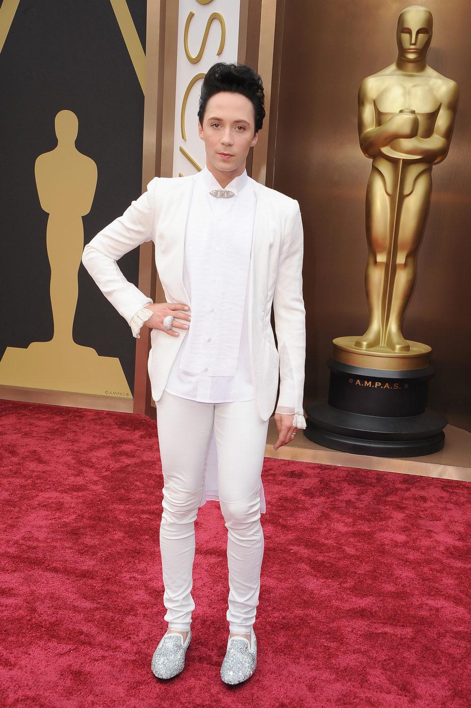 Johnny Weir at the 2014 Academy Awards