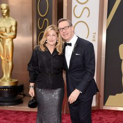 Laurie Karon and Paul feig at the 2014 Oscars