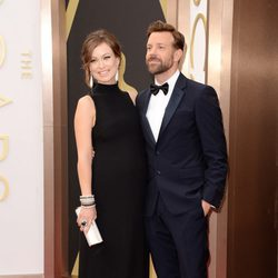 Olivia Wilde and Jason Sudeikis at the 2014 Oscars