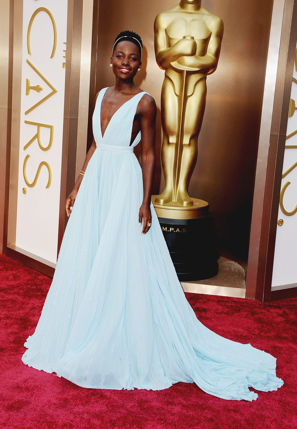 Lupita Nyong'o at the 2014 Oscars