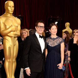 Johnny Knoxville and Naomi Nelson at the 2014 Oscars
