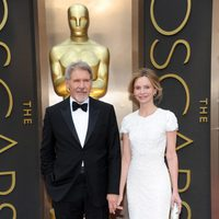 Harrison Ford and Calista Flockart at the 2014 Oscars
