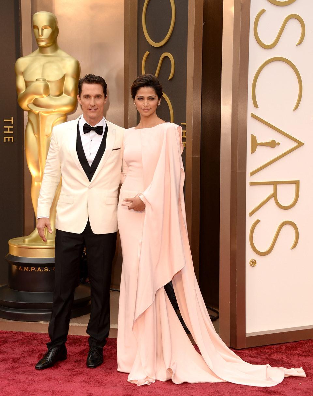 Matthew McConaughey and Camila Alves at the 2014 Oscars
