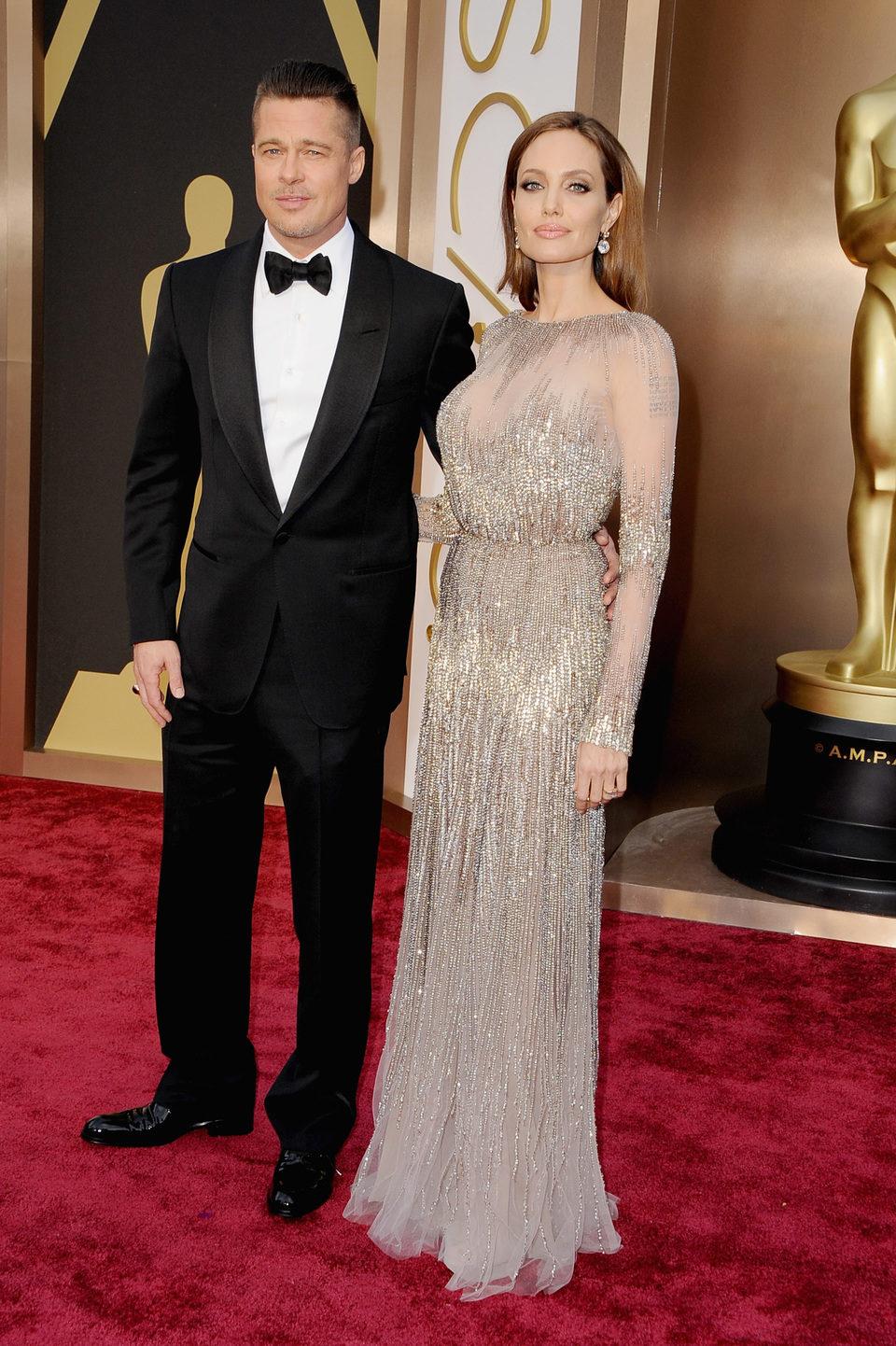 Angelina Jolie and Brad Pitt at the 2014 Oscars