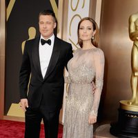 Angelina Jolie and Brad Pitt at the 2014 Oscars