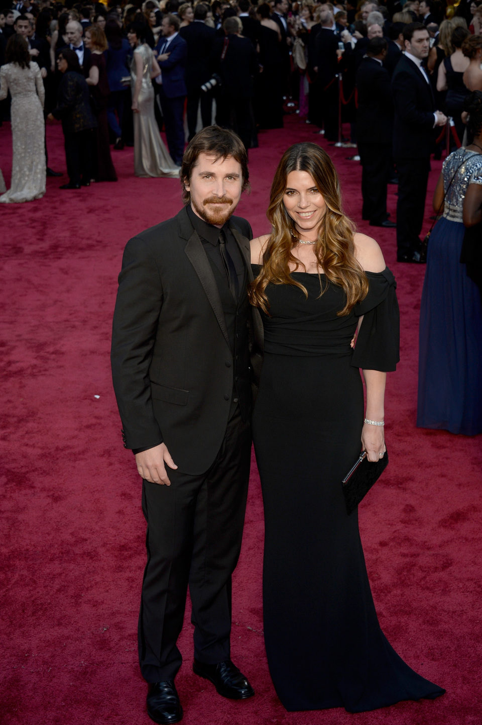 Christian Bale and Sibi Blazic at the 2014 Oscars
