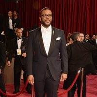 Tyler Perry on the red carpet at the 2014 Oscars