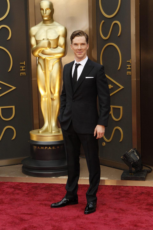 Benedict Cumberbatch at the 2014 Oscars