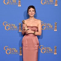 Maggie Gyllenhaal, winner of the Golden Globe 2015 for the best actress in a miniseries