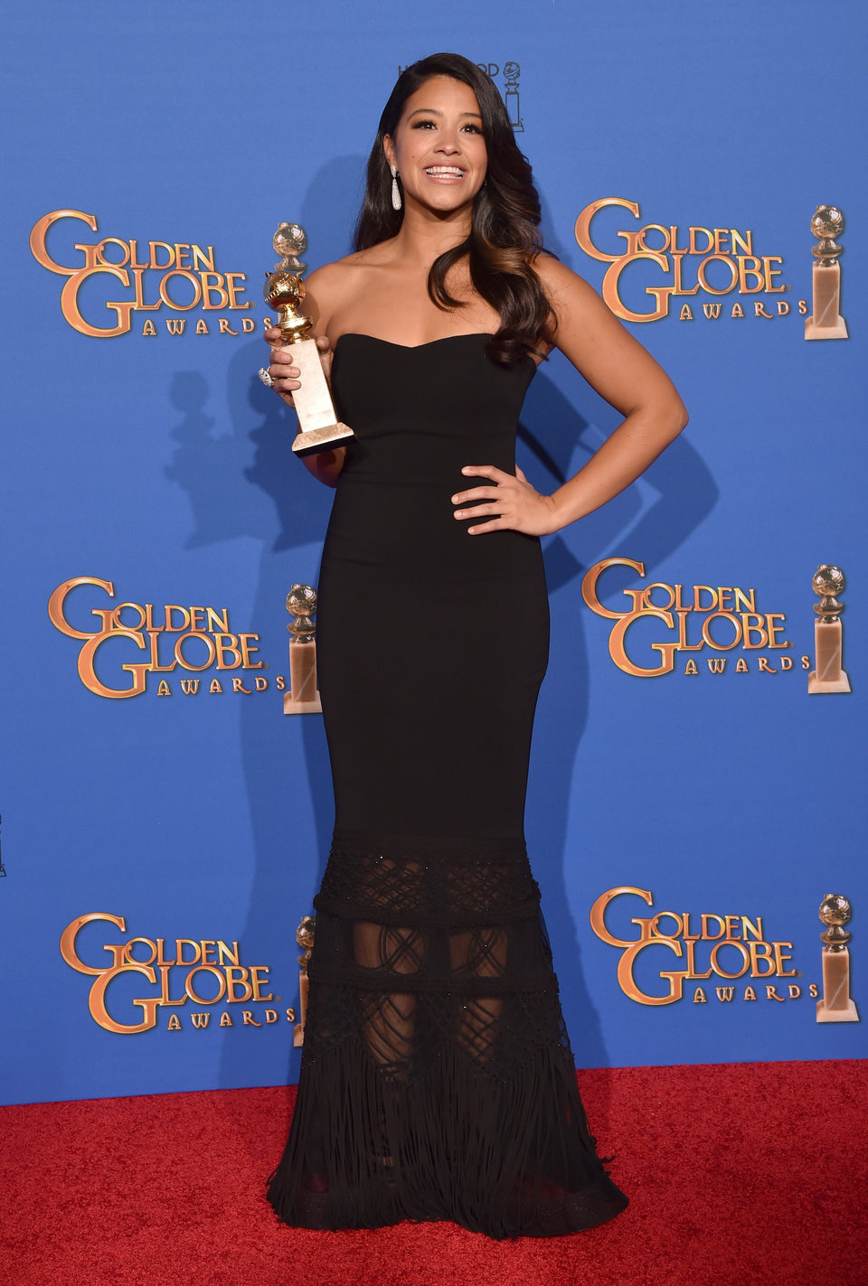 Gina Rodriguez, winner of the Golden Globe 2015 for the best comedy actress