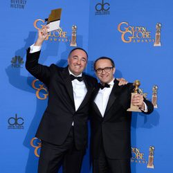 Alexander Rodnyansky and Andrey Zvyagintsev, winners of the Golden Globe 2015 for the best foreign film